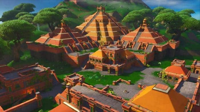Fortnite Saison 9 guide défi Éliminer trois ennemis à Sunny Steps ou Shifty Shafts