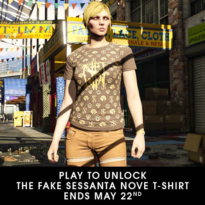 Grand Theft Auto Online débloquer t-shirt Sessanta Nove contrefait
