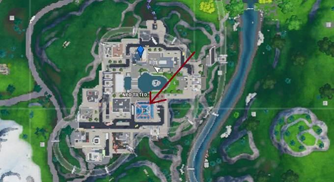 Défi Fortbyte n°100 défi Décryptage Puce n°100 Chercher au dernier étage du plus haut bâtiment de Neo Tilte Fortnite Saison 9