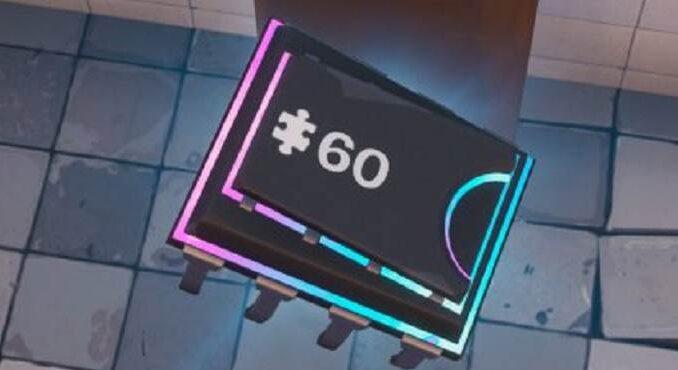 Fortnite Saison 9 défis fortbytes Fortbyte n°60 défi décryptage