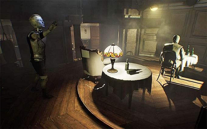 Wiki Guide L'énigme des chaises suspendues Layers of Fear 2 Acte 1 - Le désamarrage
