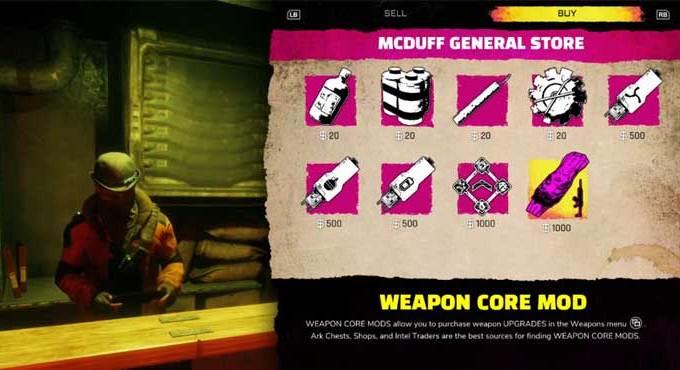 Rage 2 Guide comment obtenir des mods de base d'arme core mod