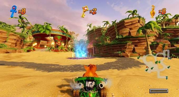 Wiki soluce Crash Team Racing Nitro Fueled N Sanity Beach - Pistes