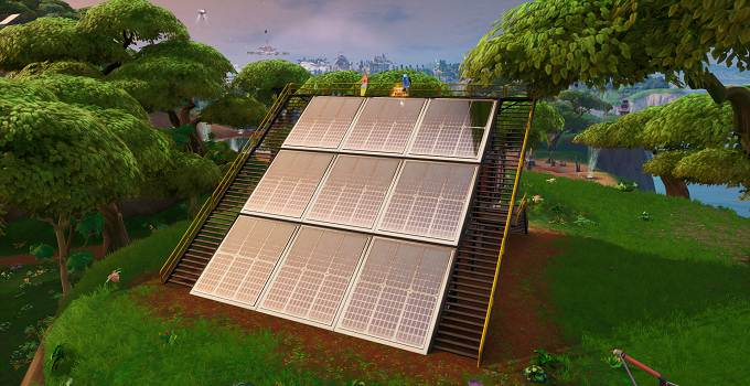 Fortnite Guide Saison 9 semaine 9 défi Visiter un panneau solaire dans la jungle