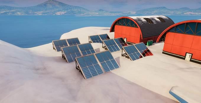 Soluce Fortnite Saison 9 semaine 9 défi Visiter un panneau solaire dans la neige