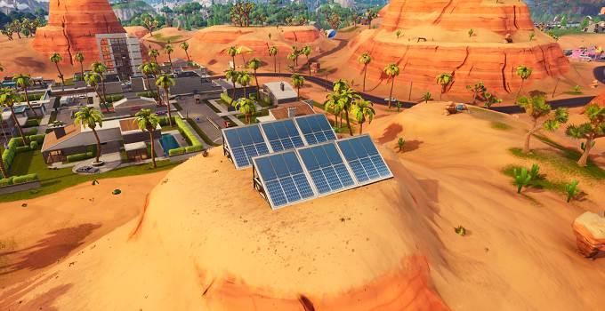 Soluce Fortnite semaine 9 saison 9 défi Visiter un panneau solaire dans le désert