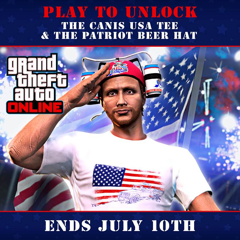 GTA Online jour Indépendance exclusivités, Bonus et promotions
