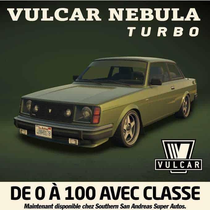 GRAND THEFT AUTO Online LA VULCAR NEBULA TURBO