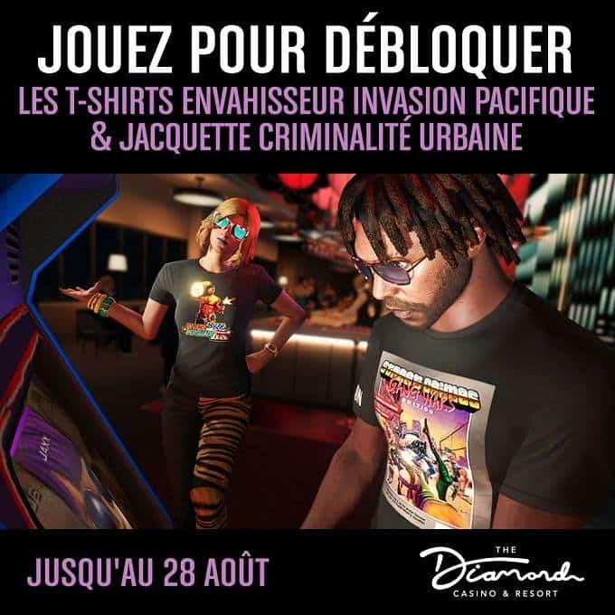 GRAND THEFT AUTO Online t-shirts jaquette Criminalité urbaine et envahisseur Invasion pacifique