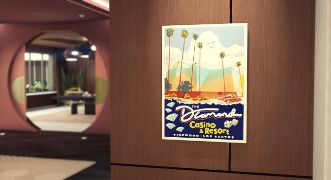 Bonus Grand theft auto LE POSTER LE DIAMOND CASINO & HÔTEL ET 250 000 GTA$