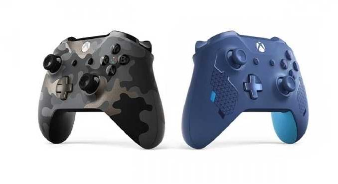 Manettes Xbox One Editions spéciales Night Ops Camo et Sport Blue - gamescom 2019