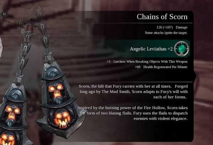 Armes Darksiders 3 Chains of scrorn