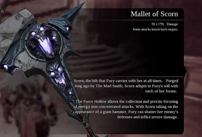 Armes Darksiders 3 Mallet of scrorn