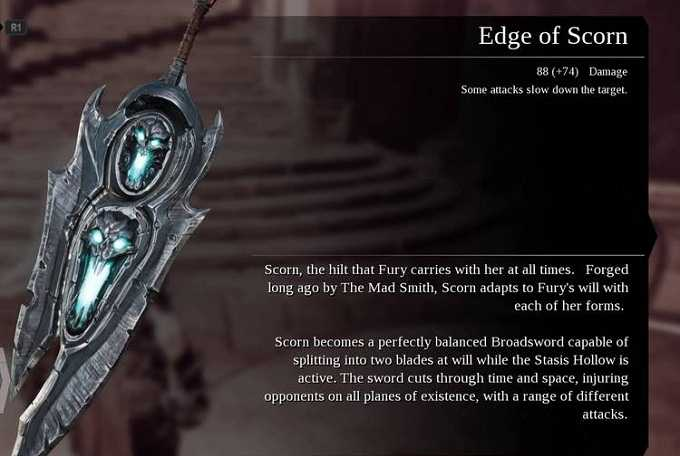Armes Darksiders III edge of scrorn