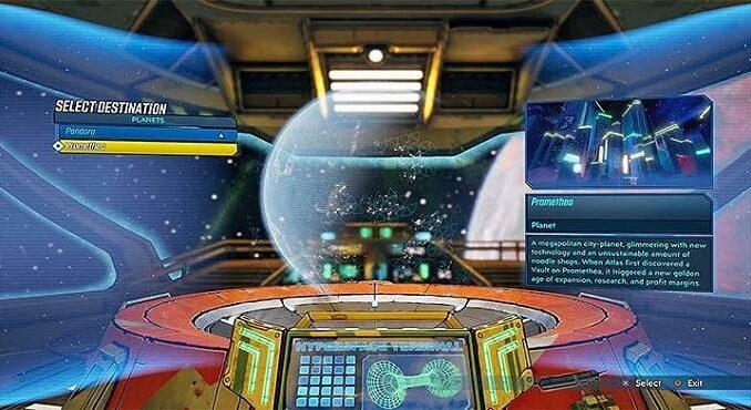 Guide déverrouiller le voyage vers d'autres planètes Borderlands 3