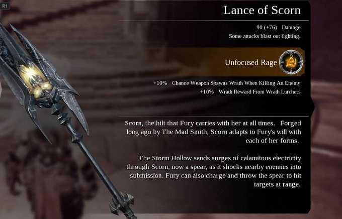 Darksiders III Armes Lance of scrorn