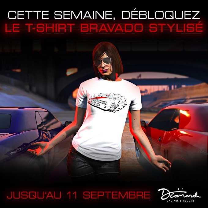 GTA V Online T-shirt La Bravado Gauntlet Hellfire