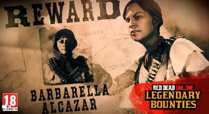 Red Dead Online Traquez Barbarella Alcazar criminelle recherchée légendaire