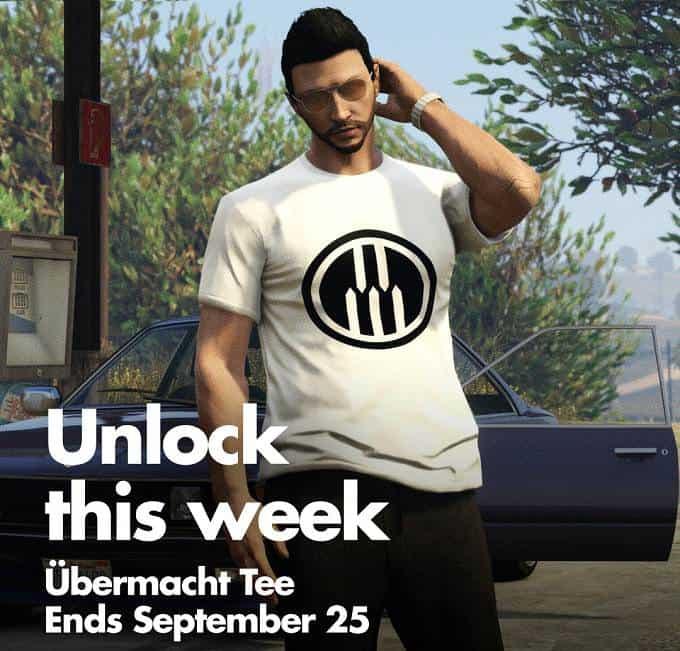 débloquer t-shirt Ubermacht dans GTA 5 online