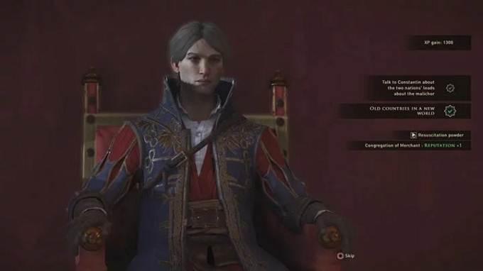 Trouver Constantin dans le palais de Greedfall Un remède pour Malichor guide