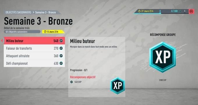Guide Défis Bronze Saison 1 semaine 3 FIFA 20
