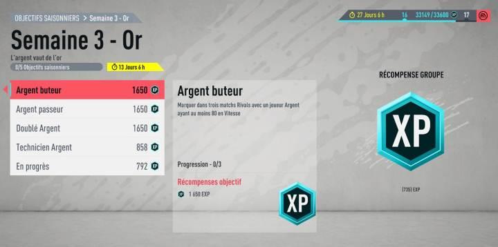 Guide Défis Or Saison 1 semaine 3 FIFA 20