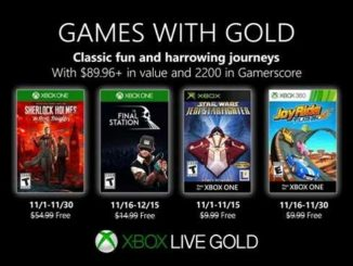 Jeux Xbox One gratuits Novembre 2019 Games With Gold