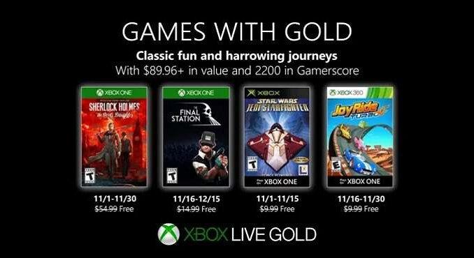 Jeux Xbox One gratuits Novembre 2019 Games With Gold