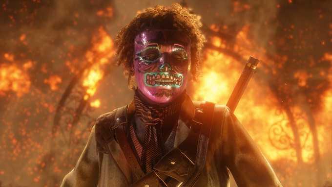 terrifiant masque monstrueux de red dead online