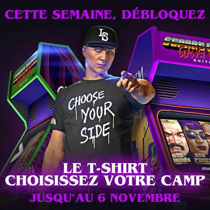 GTA online t-shirts Choisissez votre camp Choose Your Side