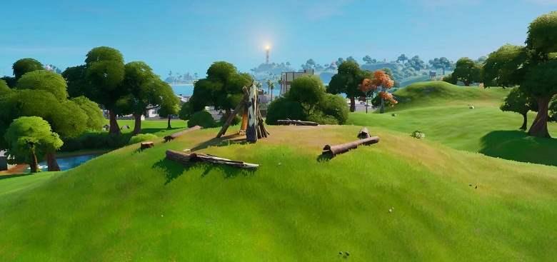 Timber Tent Tente en troncs Emplacement sur la carte Fortnite Chapitre 2