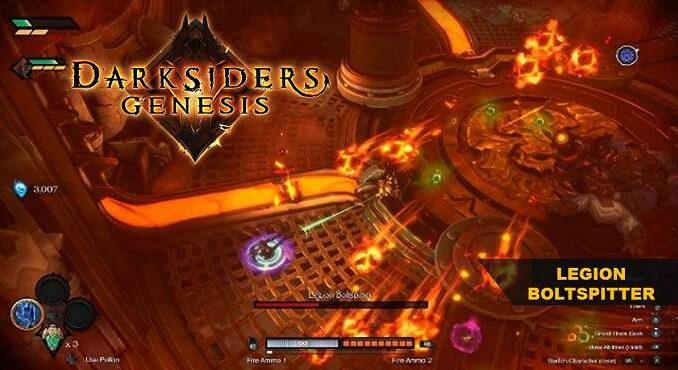 Boss Legion Boltspitter Darksiders Genesis Chapitre 3, La Voûte des Enfers