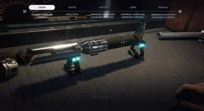 Débloquer plus de couleurs du sabre laser dans Star Wars Jedi Fallen Order Guide