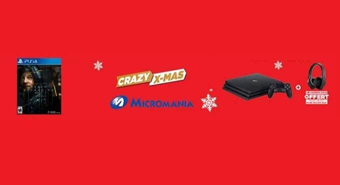Crazy Xmas days PS4 Pro + Casque PS GOLD + Death Stranding à 299,99€ chez Micromania