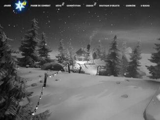 Guide Fortnite défis de Noël Mission Fête hivernale, Jour 1 (Saison 1, Chapitre 2) :