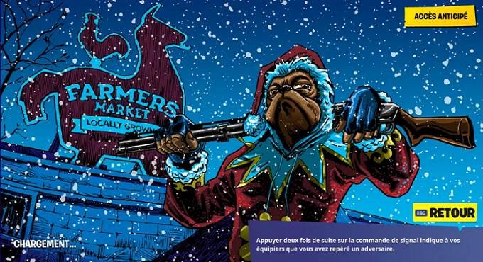 Guide Fortnite fête hivernale débloquer écran de chargement Une nuit aux abois