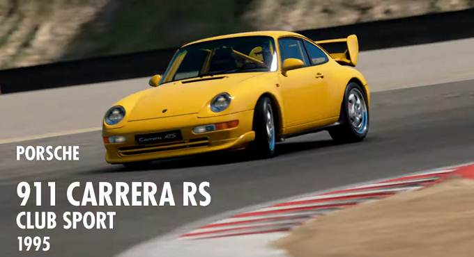 GT Sport Porsche 911 Carrera RS Club Sport (993) '95