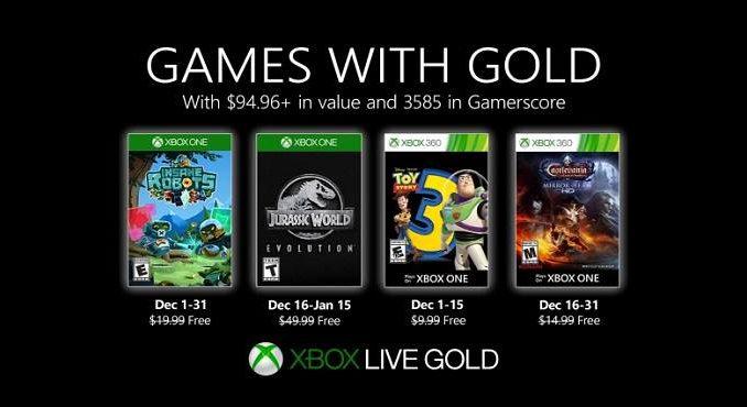 Games With Gold Décembre 2019 Jeux Xbox One gratuits annoncés