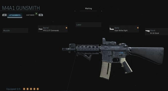 M4A1 GUNSMITH - Fusil d'assaut - Call of Duty Modern Warefare armes Guide