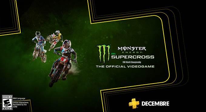Monster Energy Supercross - Jeux gratuits PS4 décembre 2019