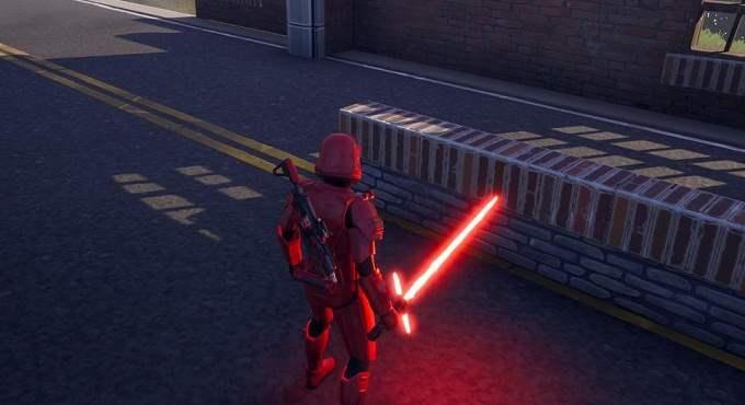 Sabre laser de Fortnite X Star Wars rouge