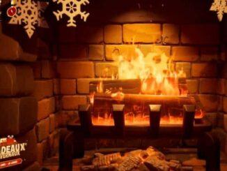 Se réchauffer près du feu de la cheminée du chalet Fortnite défis de Noël Mission Fête hivernale