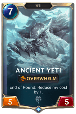 Guide Champion LoR Ancient Yeti