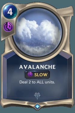 Avalanche rare carte LoR