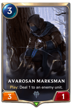 Champions et cartes LoR Freljord Guide -Avarosan Marksman