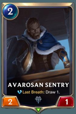 Champions et cartes LoR Freljord Guide - Avarosan Sentry