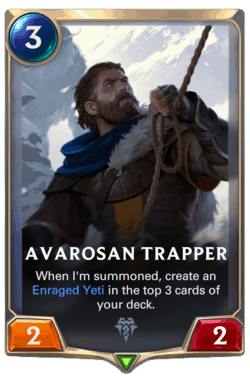 Champions et cartes LoR Freljord Guide Avarosan Trapper