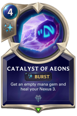 Champions et cartes Legends of Runeterra Freljord Guide Catalyst of Aeons