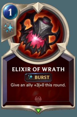 Elixir of Wrath de rage cartes de sort LoR