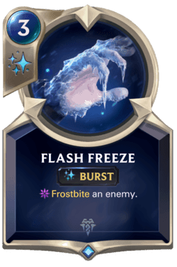 Champions et cartes Legends of Runeterra Freljord Guide Flash Freeze